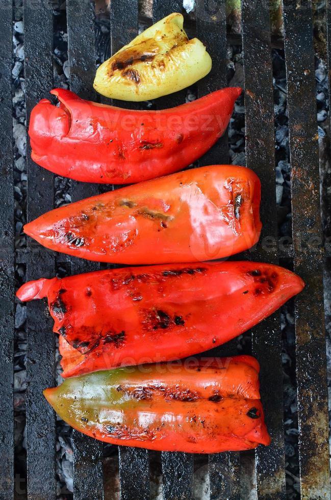 paprika op de grill foto
