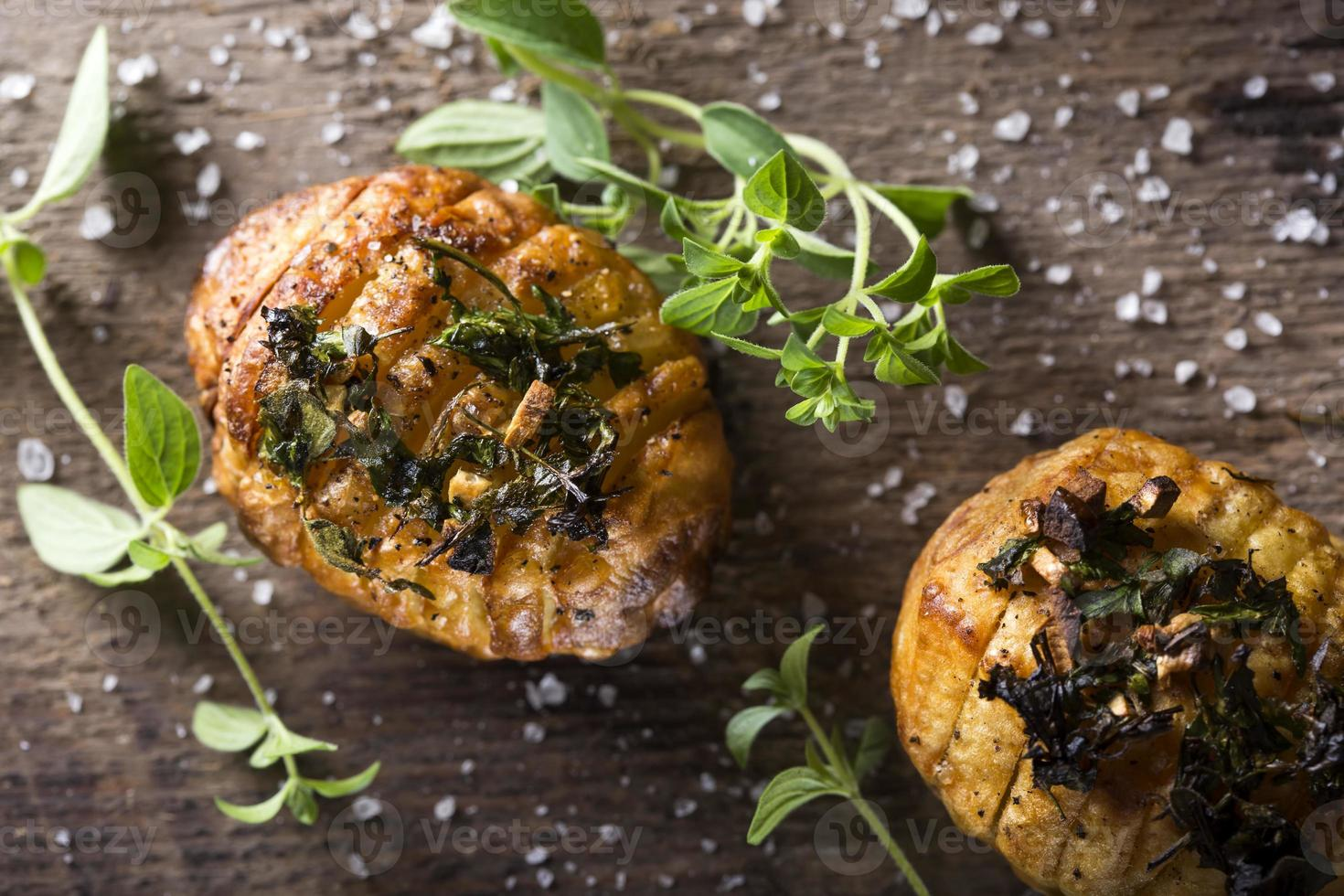 hasselback aardappelen foto
