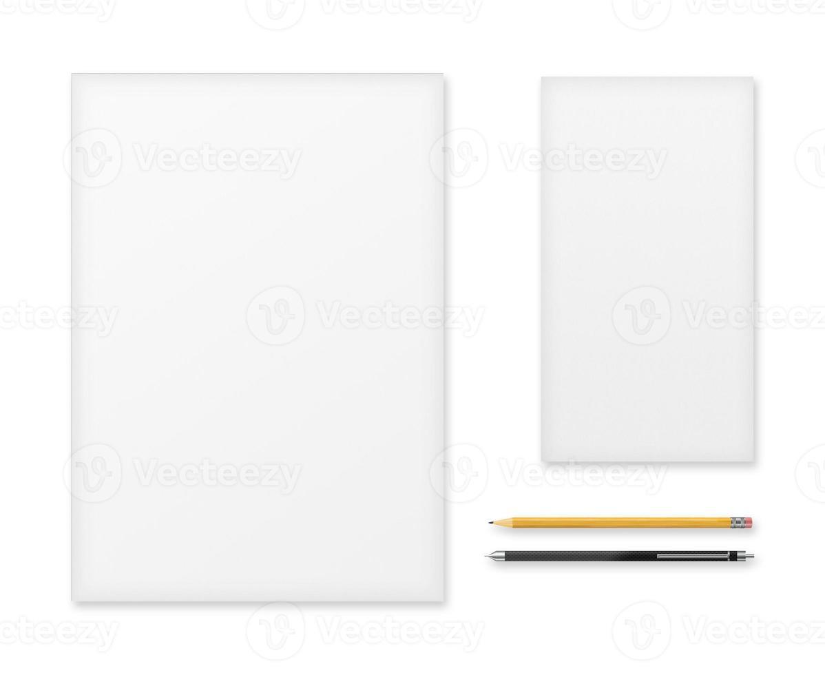kantoorartikelen voor presentaties en portfolio's van ontwerpers. foto