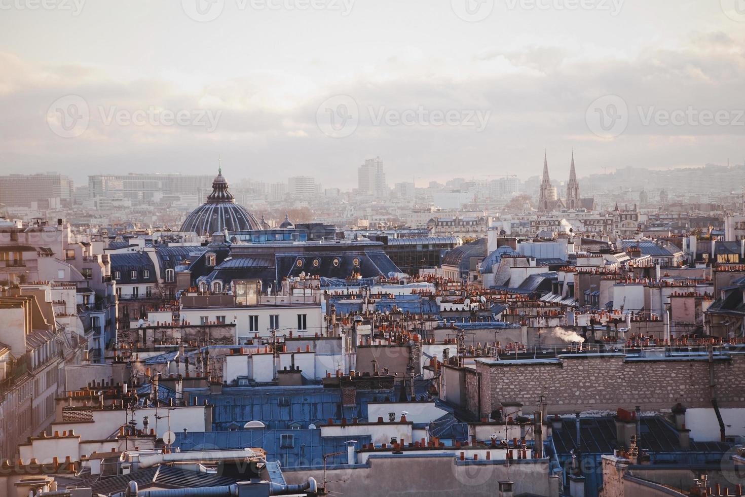 panoramisch uitzicht over Parijs foto