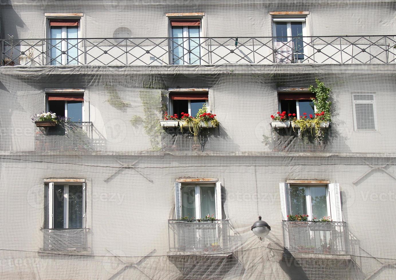 gevel in Parijs bouwen foto