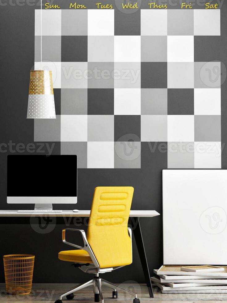 bespotten van kantoor, muur kalender achtergrond foto
