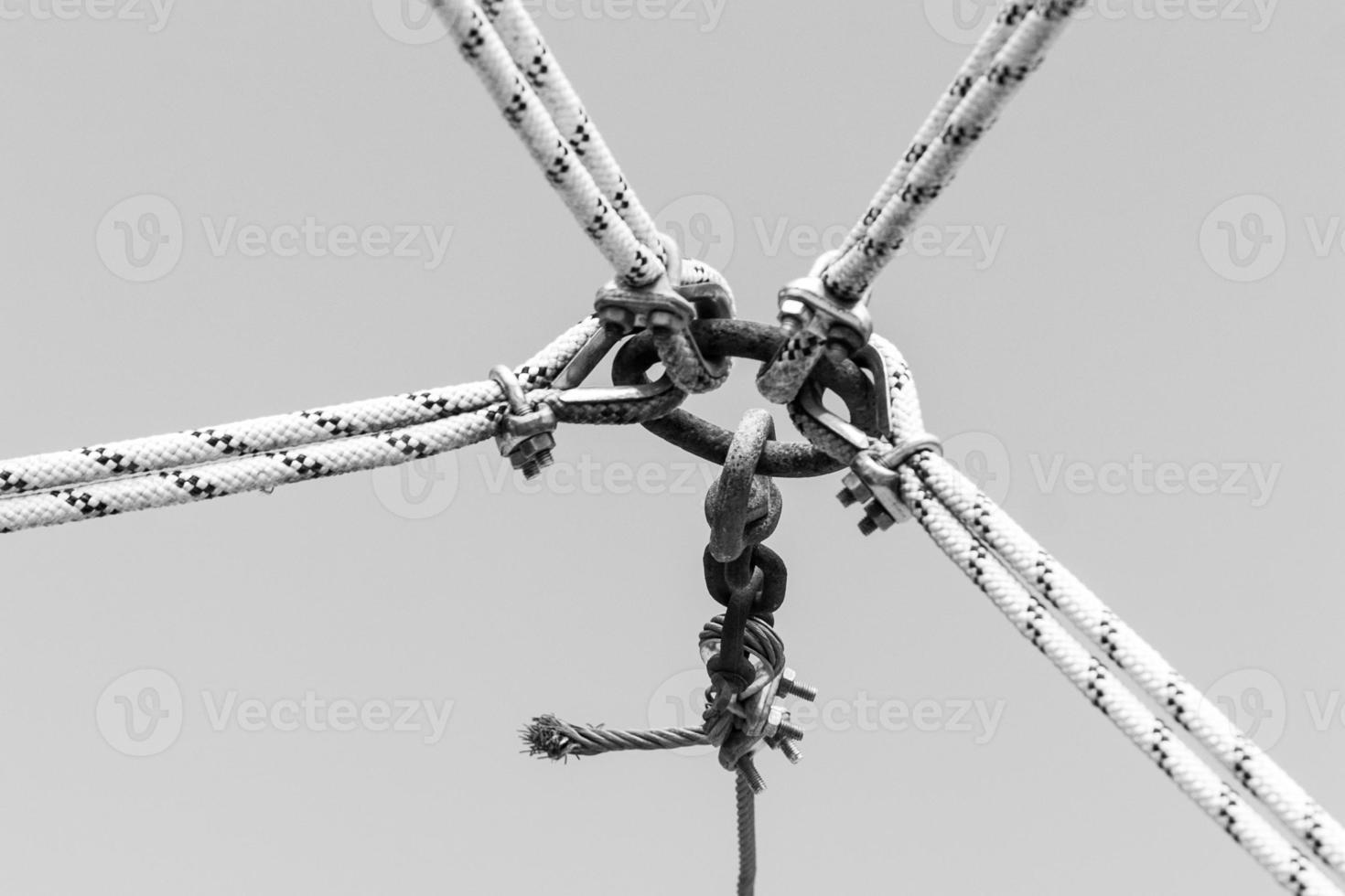 bijeenkomst van touwen foto