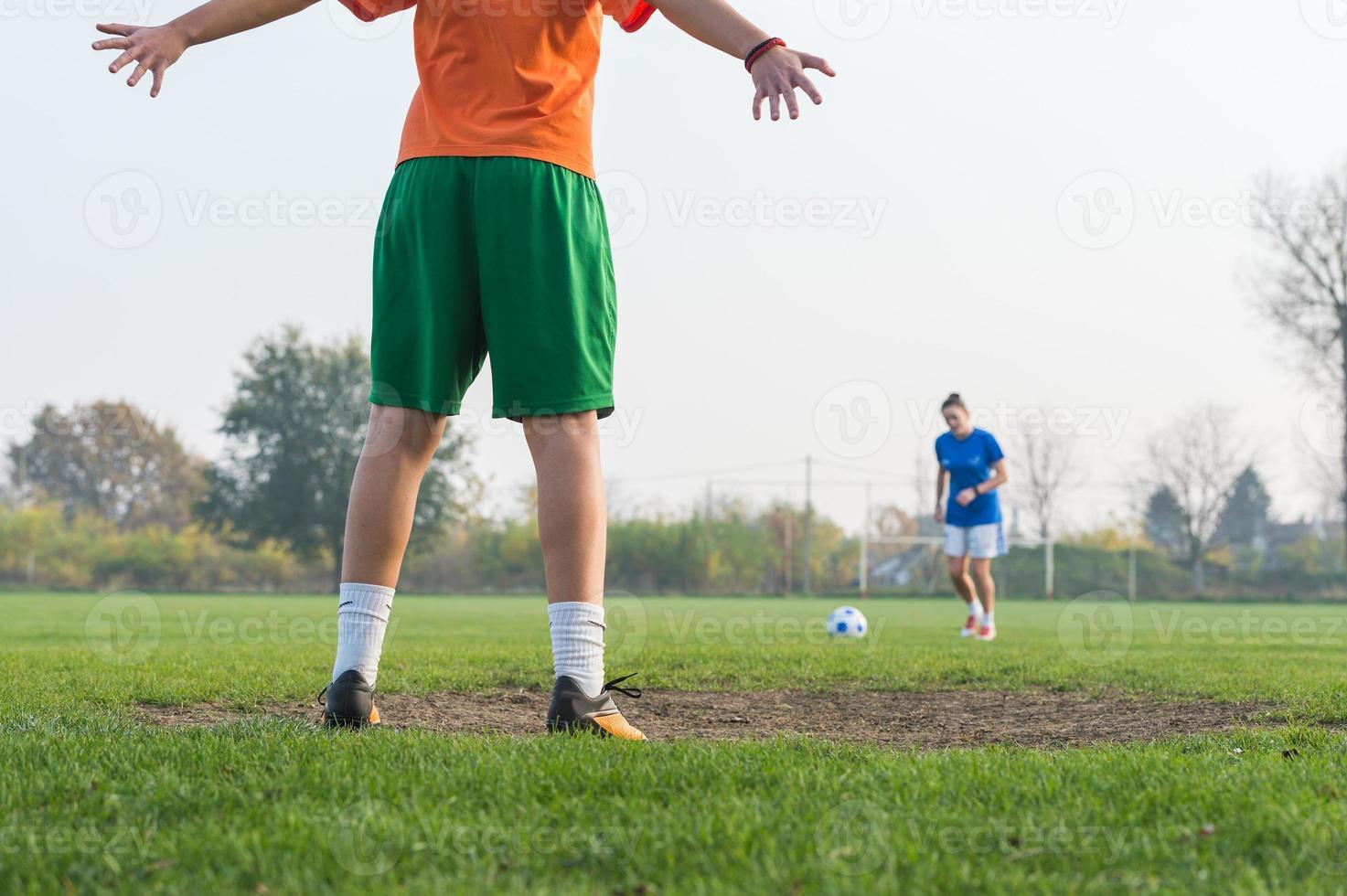 vrouwen voetbal foto
