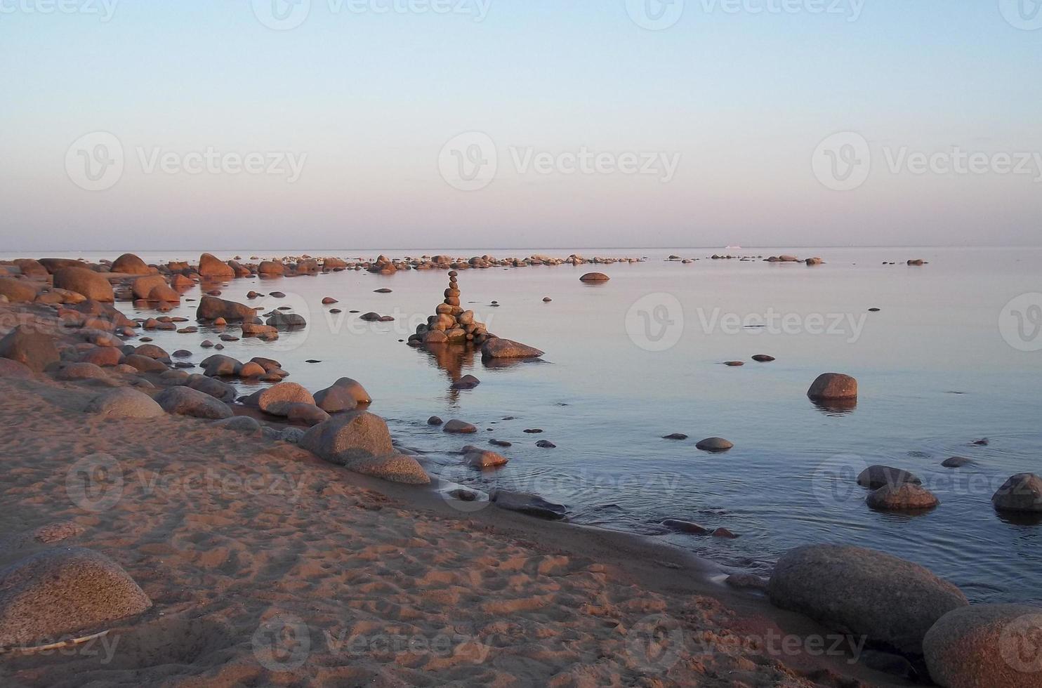 's avonds op de golf van finland foto