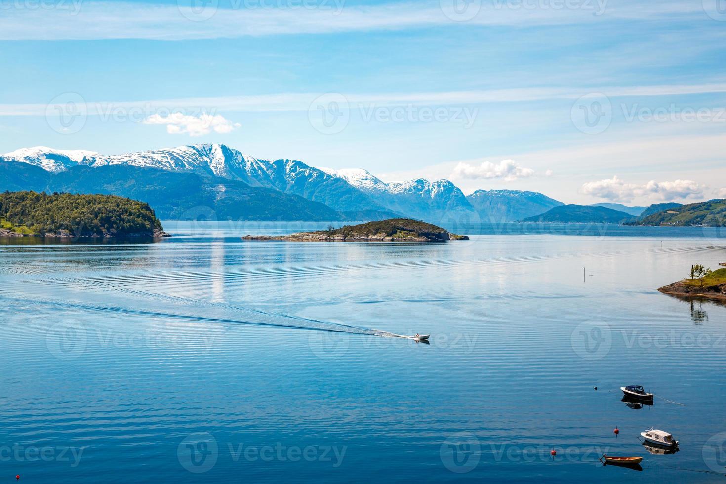 prachtige natuur noorwegen. foto