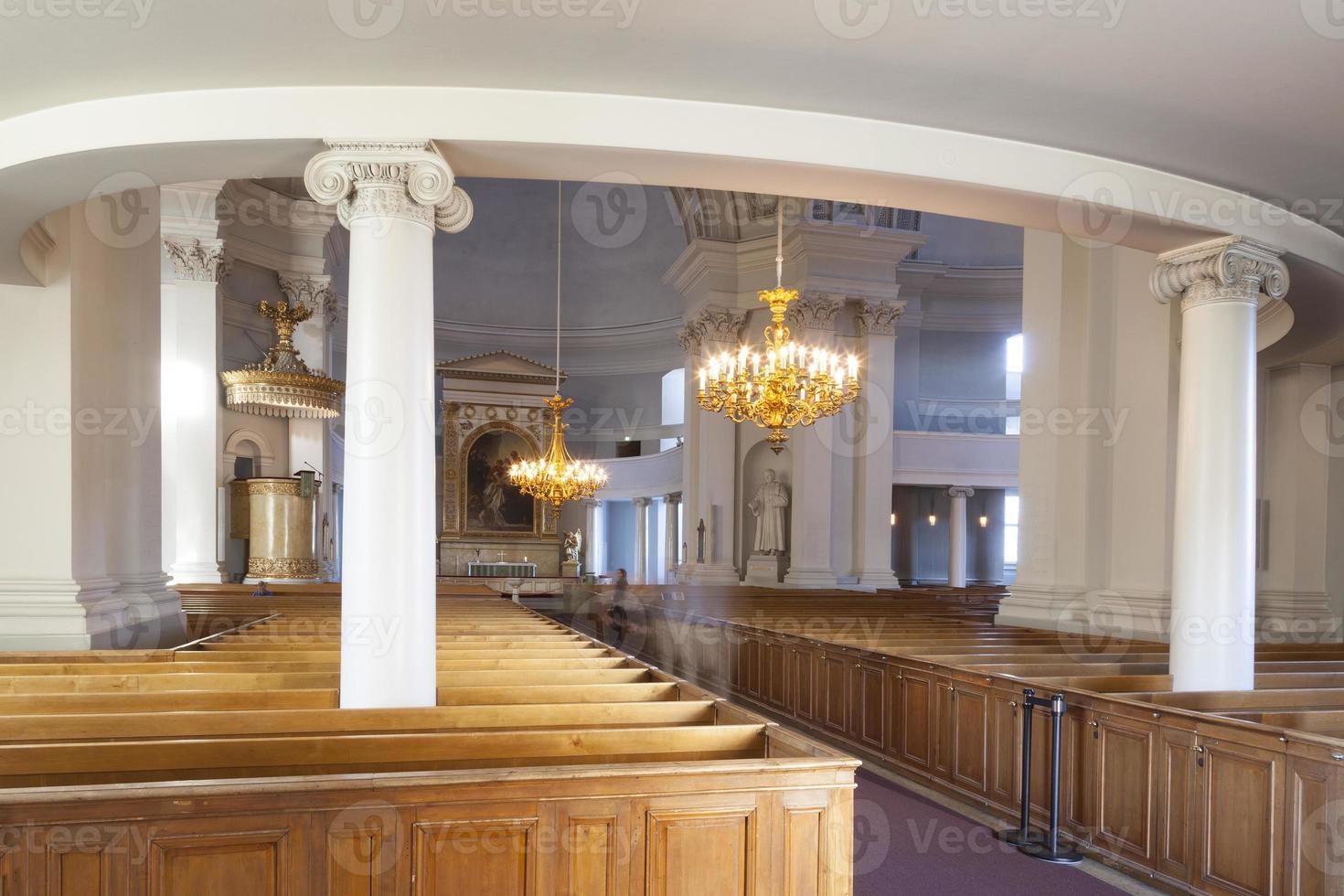 interieur van de kathedraal van helsinki foto