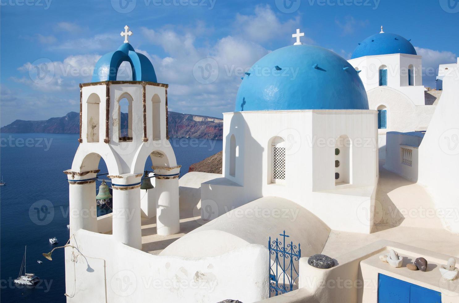 santorini - kerken in oia foto