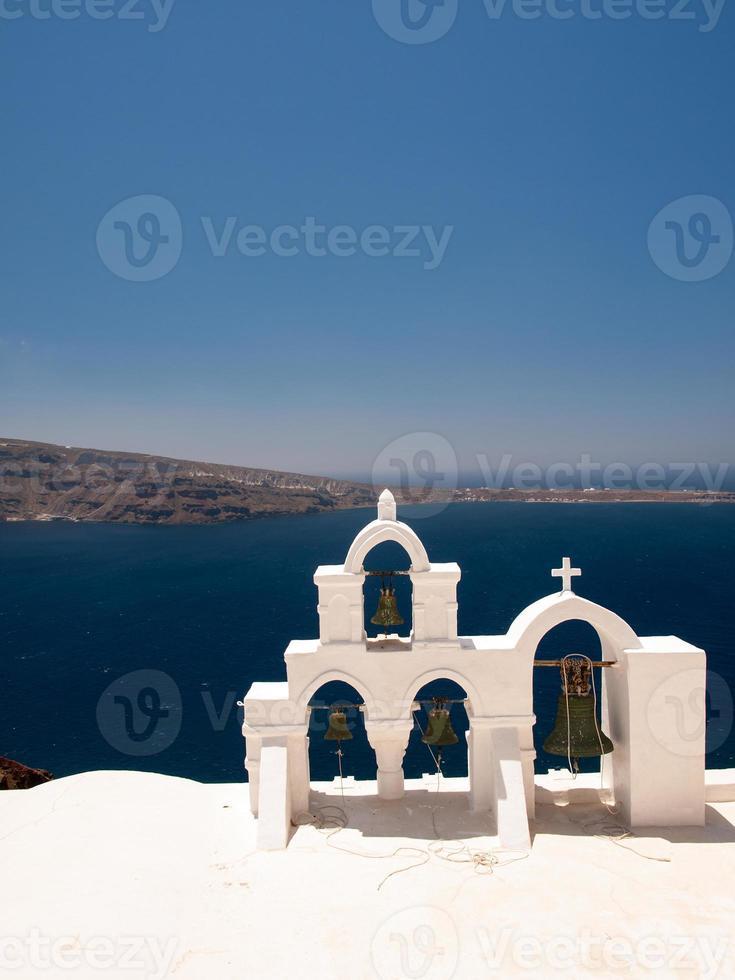 beiaard in Santorini foto