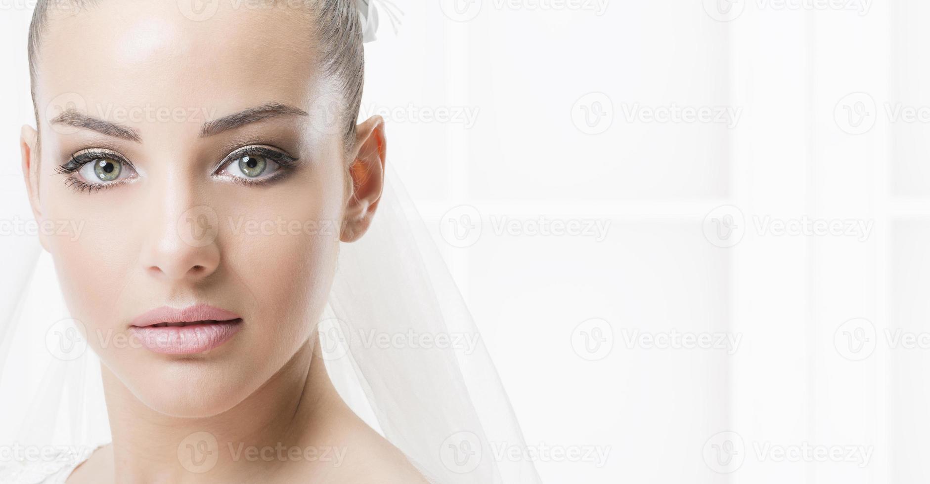 portret van de bruid. foto