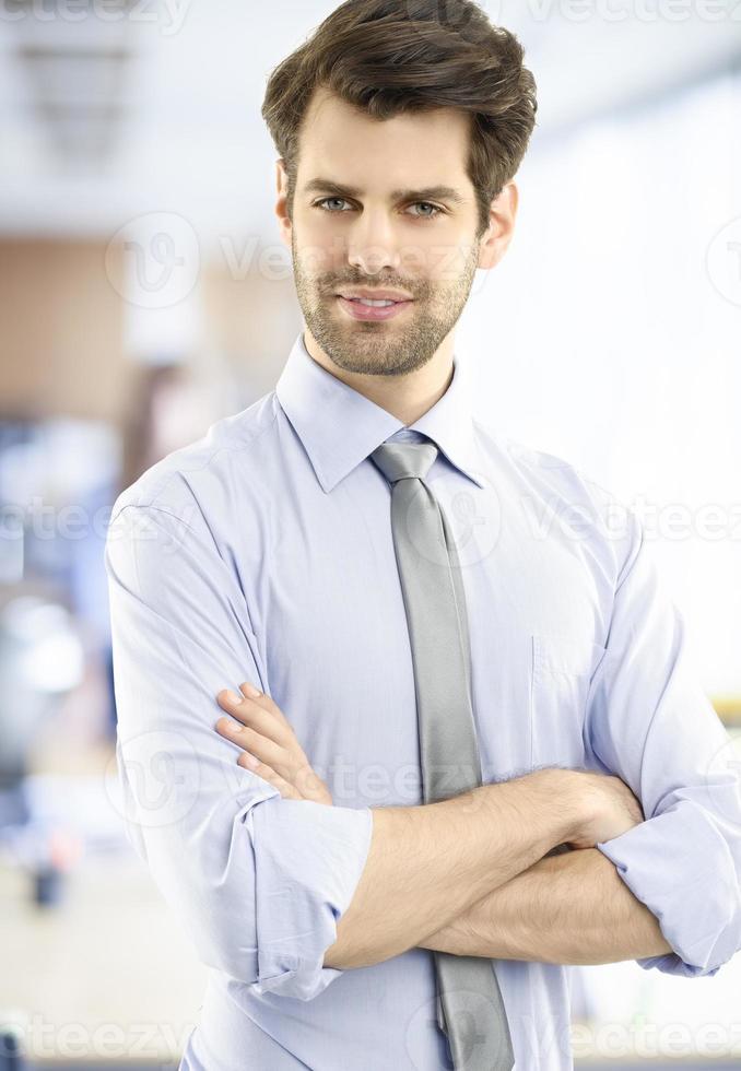 jonge zakenman portret foto