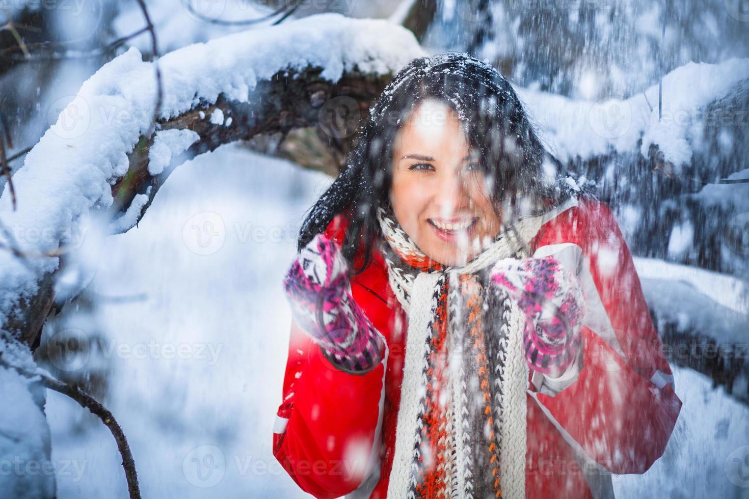 sneeuw meisje, portret foto