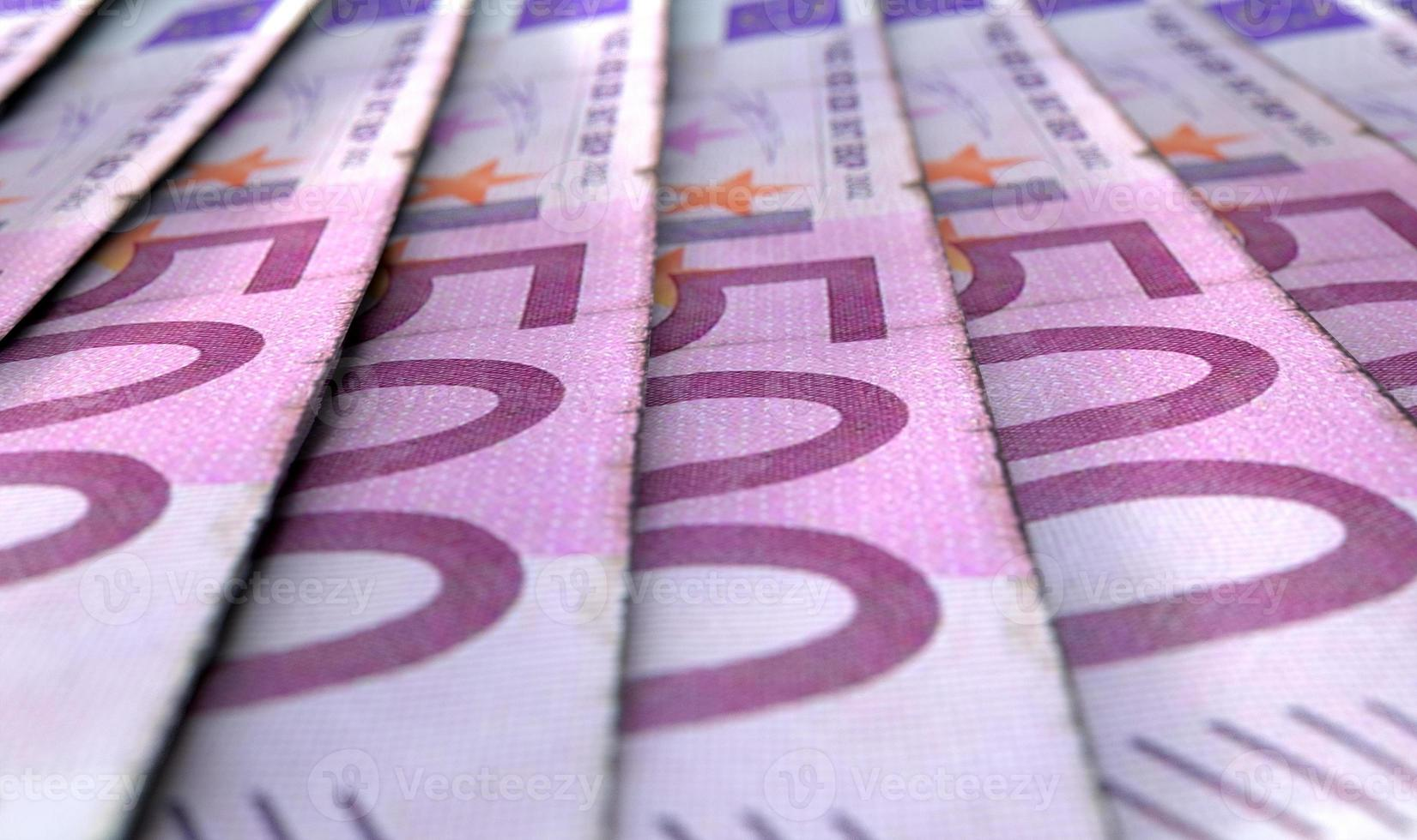 opgesteld close-up bankbiljetten foto