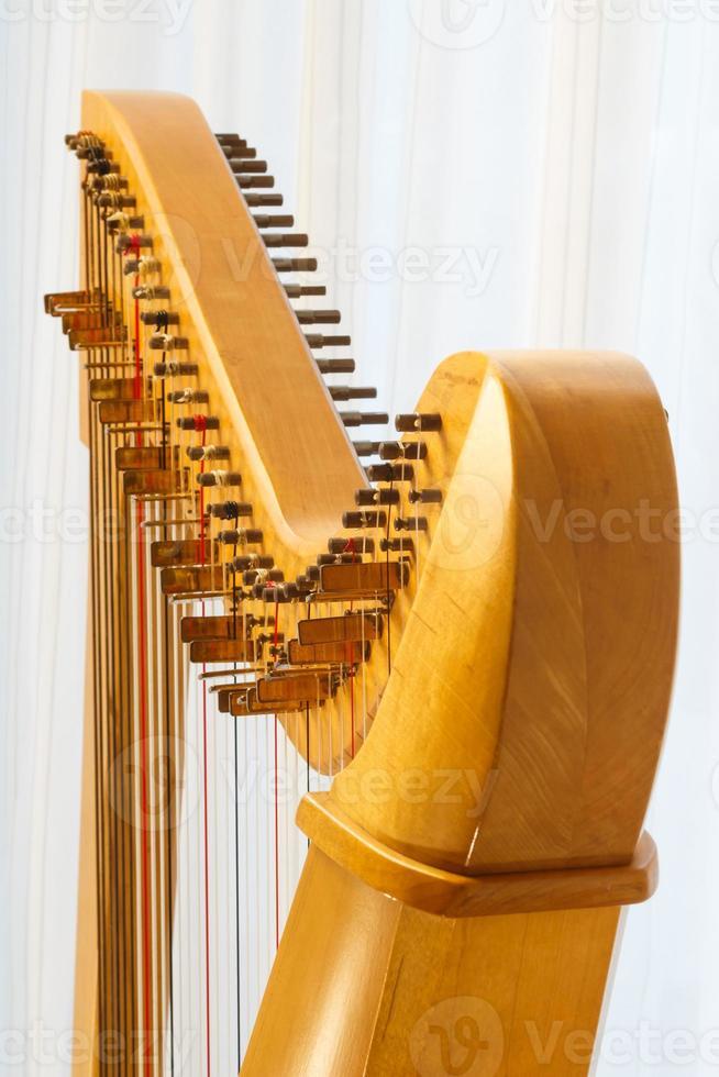 Keltische harp close-up met hoek foto