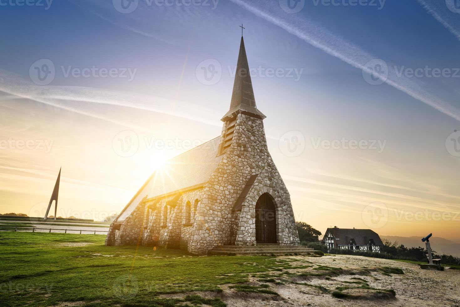 etretat kerk frankrijk foto