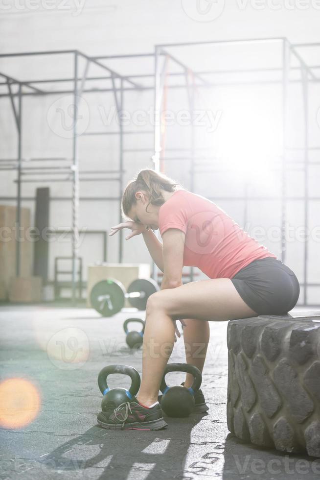 trainen in de sportschool foto