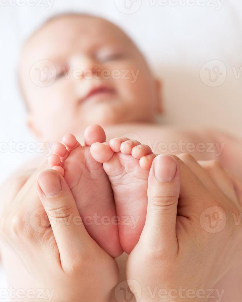 baby voeten close-up foto