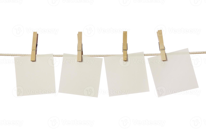 vier witte blanco biljetten foto