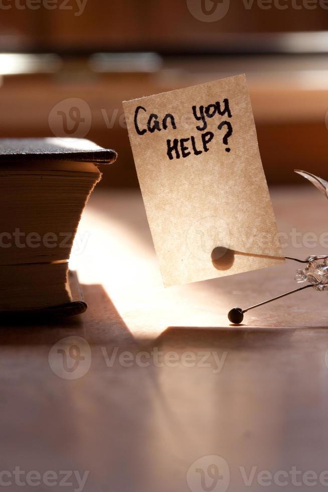 kun je helpen ? foto