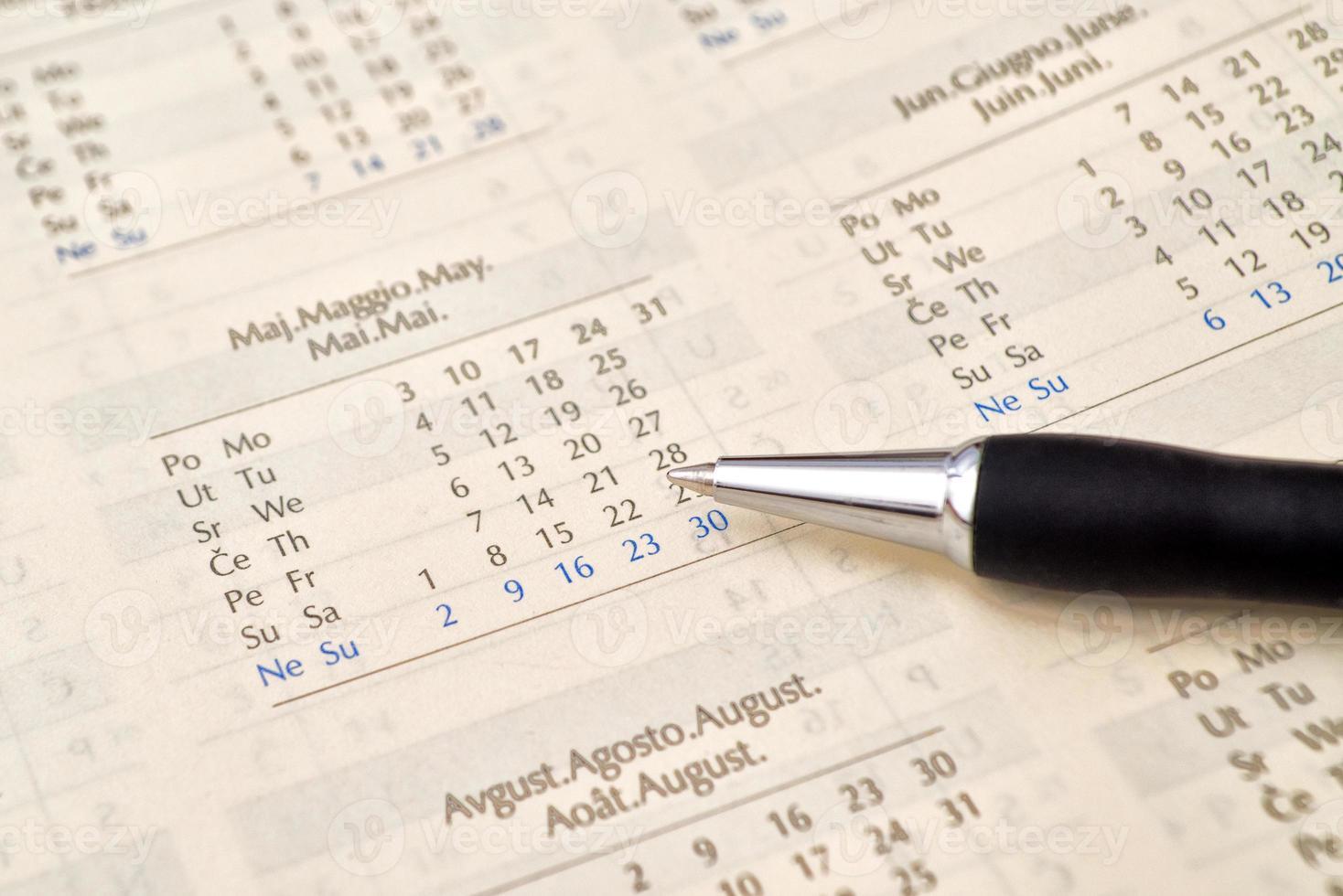 potlood en kalender foto