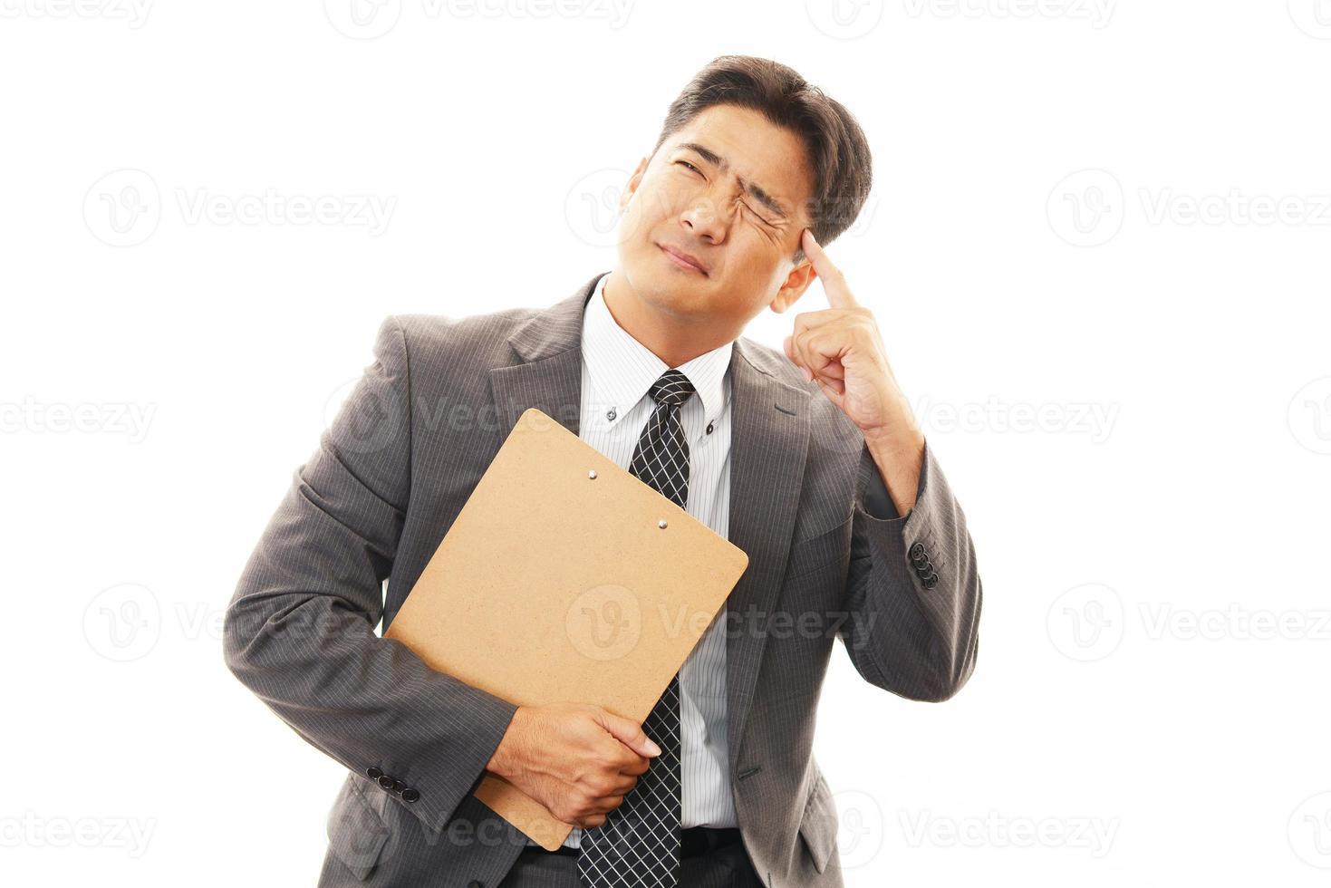 gefrustreerde zakenman foto