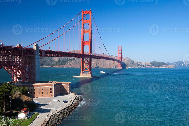 de golden gate bridge in San Francisco foto