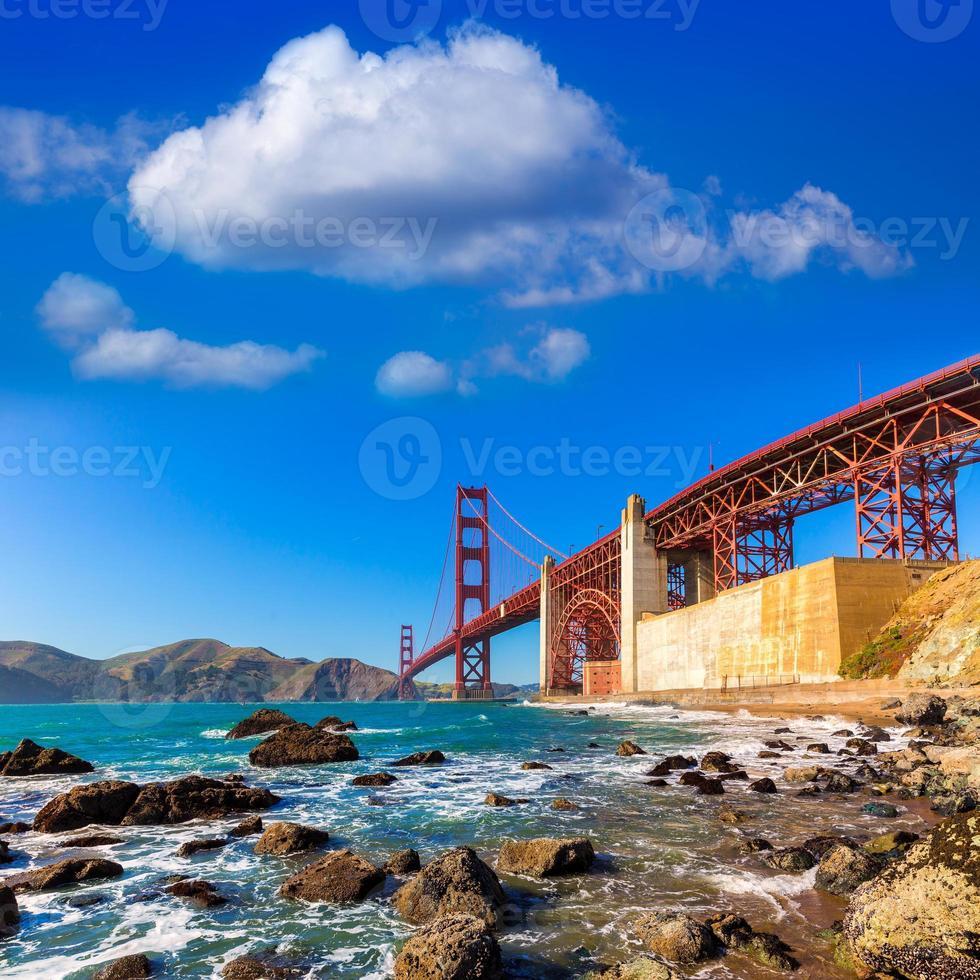 San Francisco Golden Gate Bridge Marshall Beach Californië foto