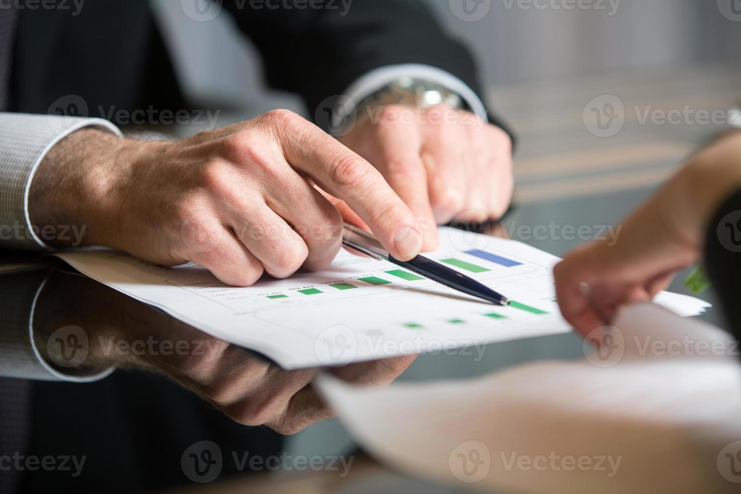 financiële diagramanalyse foto