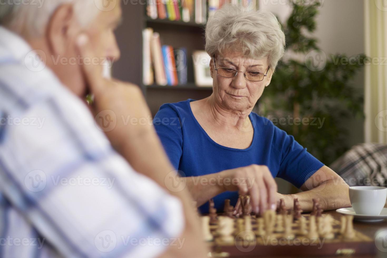 schaken is een spel dat geduld vereist foto
