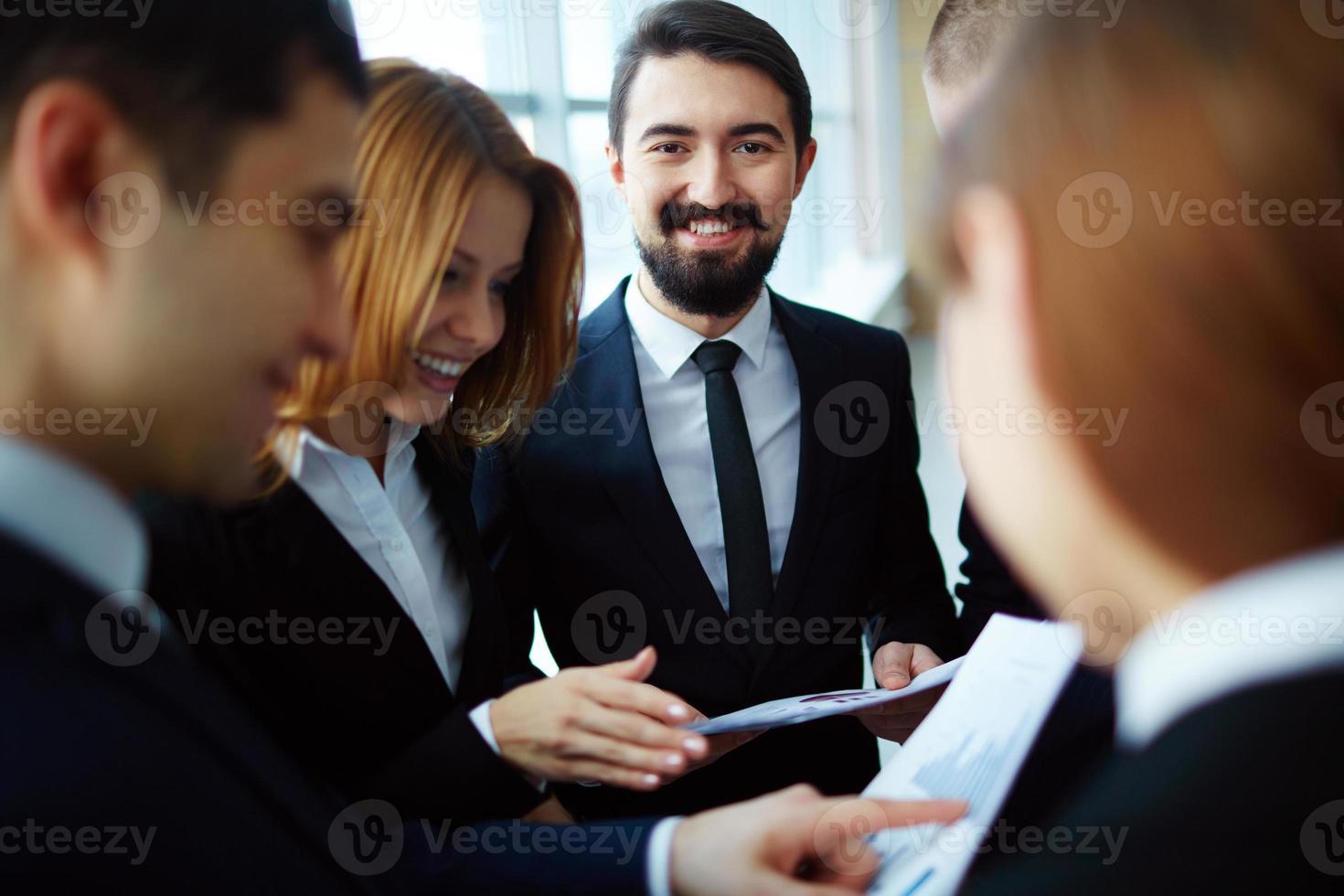 gelukkig zakenman foto