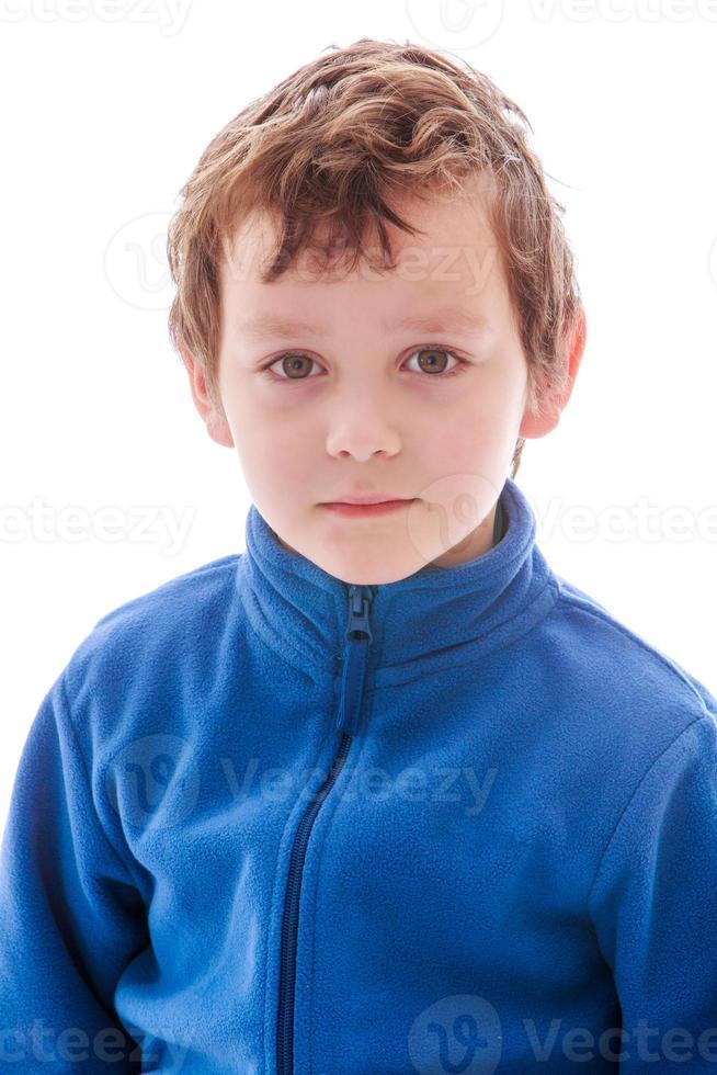 close-up portret van een jonge jongen foto