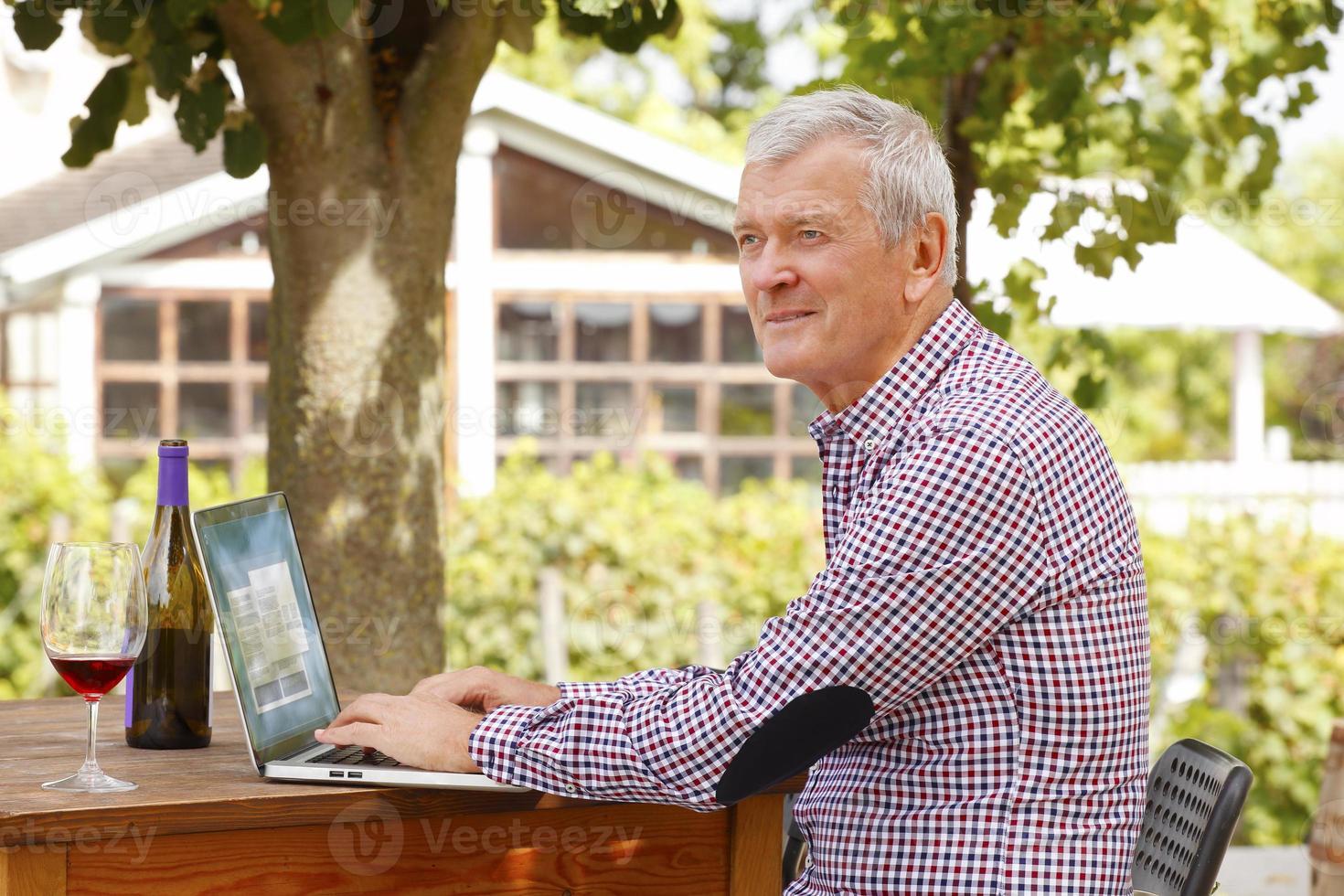 actieve senior man foto