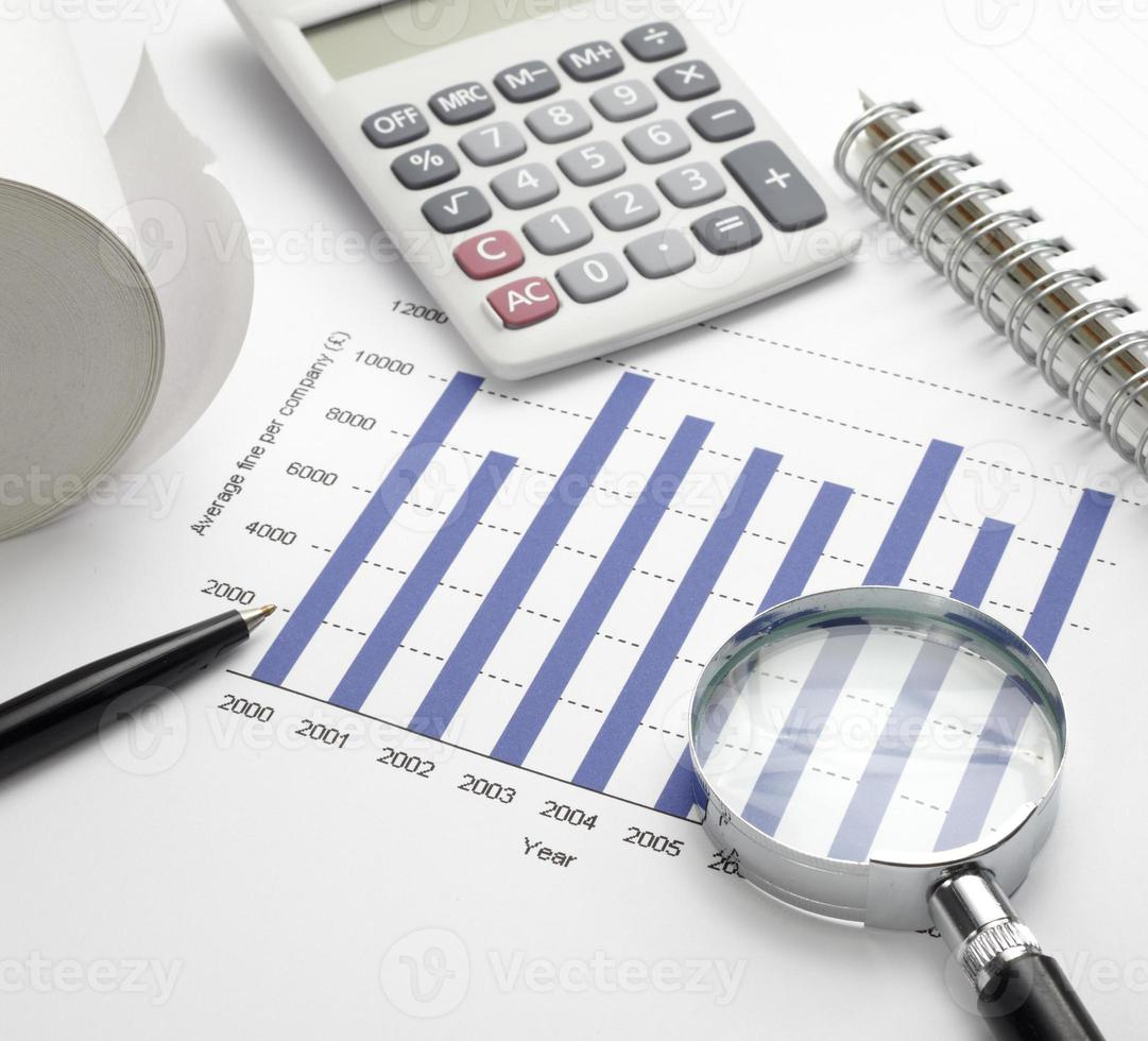 zakelijke grafiek grafiek beurs kantoor bureau financiën foto
