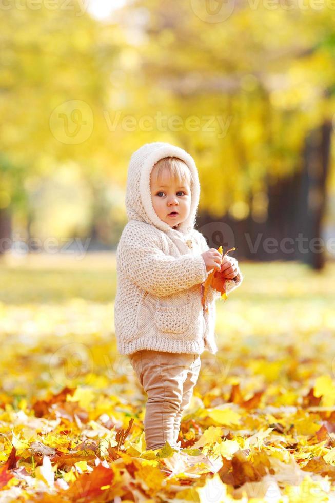 herfst portret van kind foto