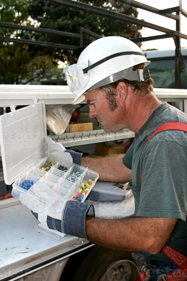 elektricien & servicetruck verticaal foto