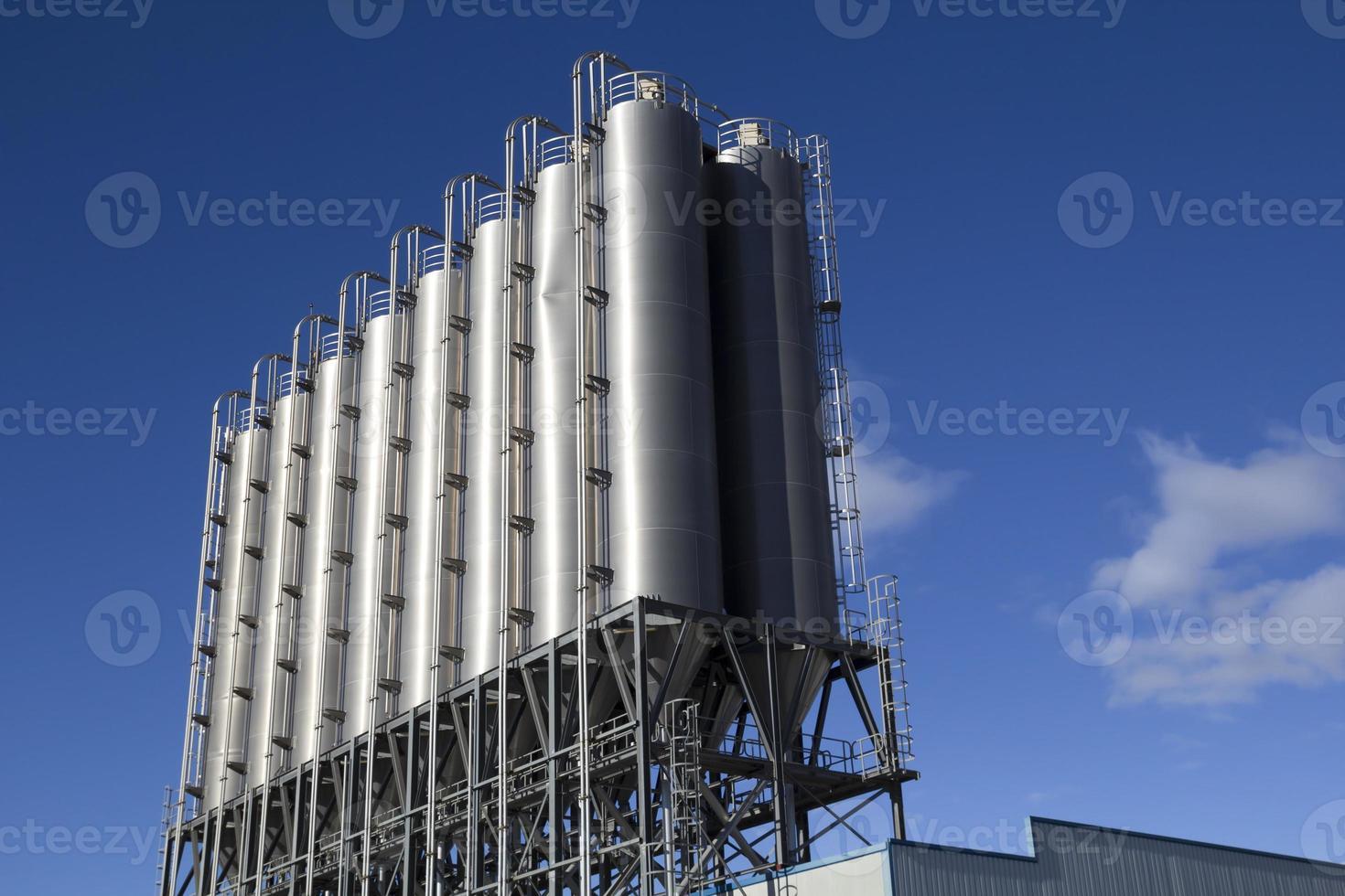 industriële silo's foto