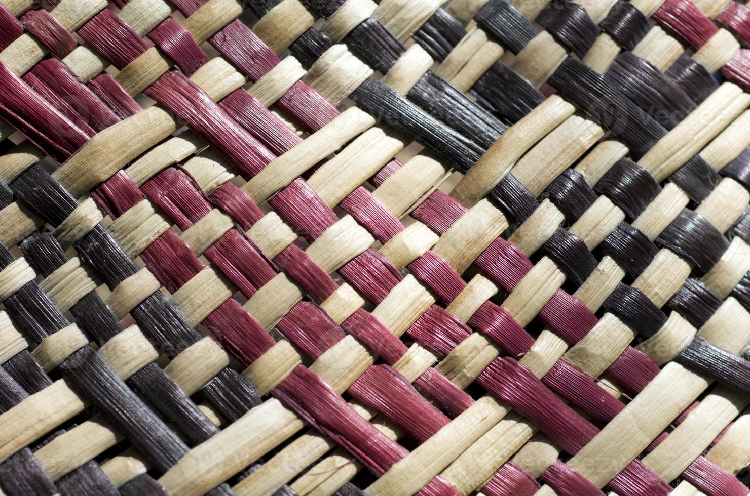 maori cultuur - geweven vlas foto