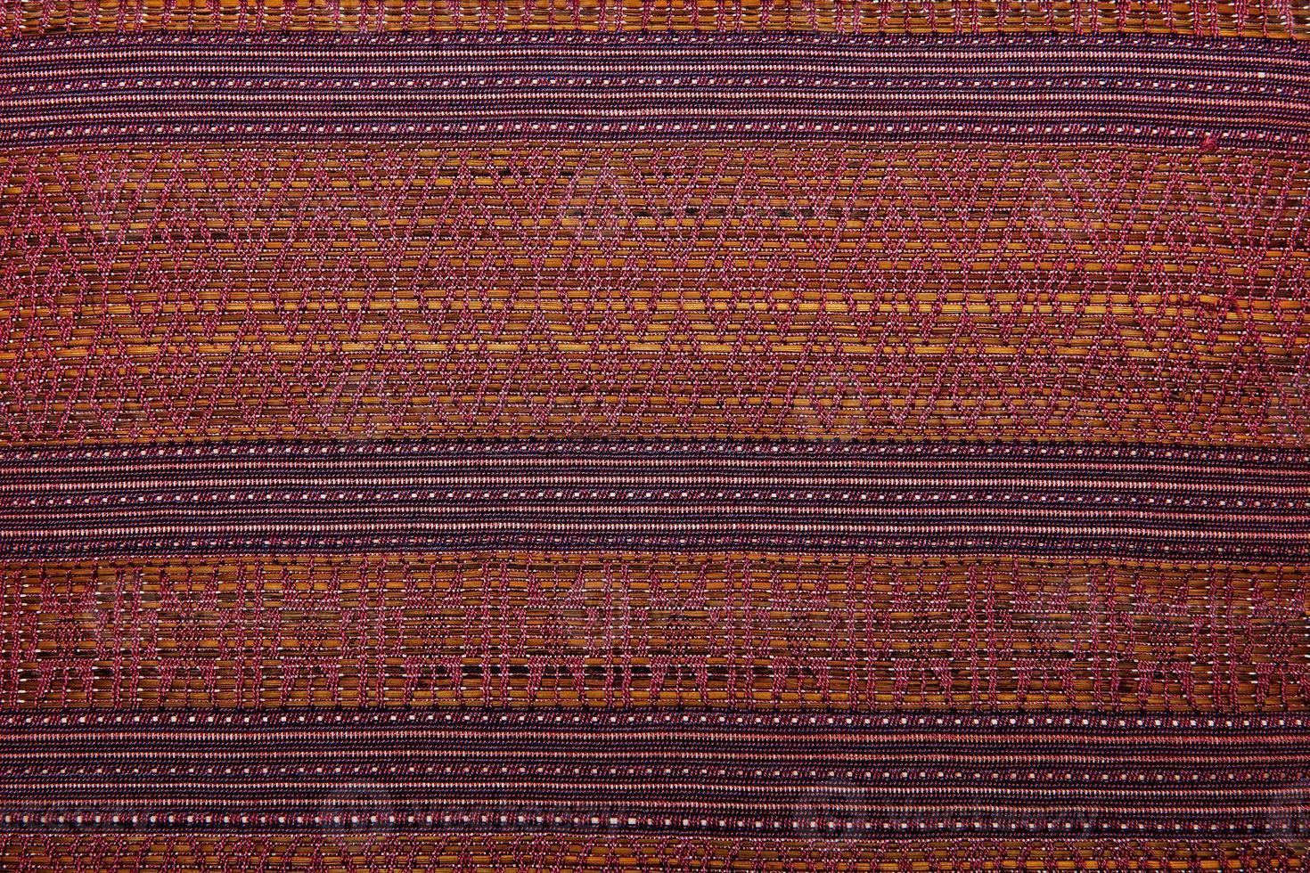 kleurrijke Afrikaanse Peruaanse stijl tapijt oppervlak close-up foto