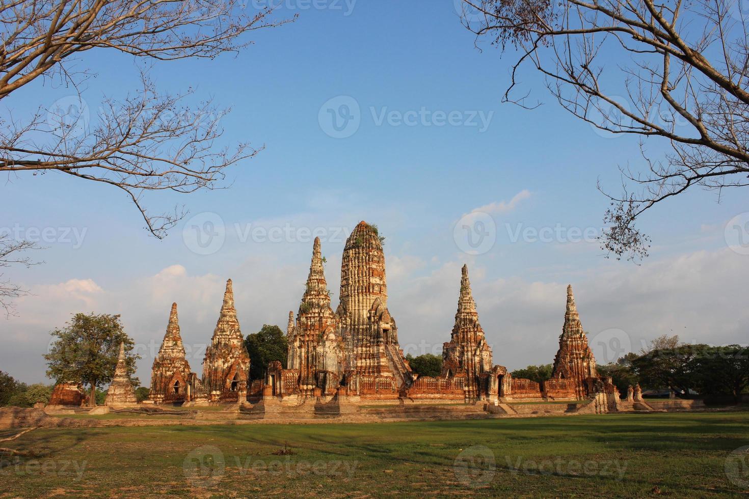 Ayutthaya historisch park, Thailand foto