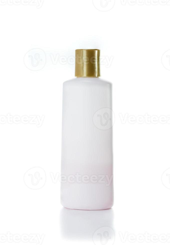 lege bodylotion shampoo of container voor vloeibare zeep foto