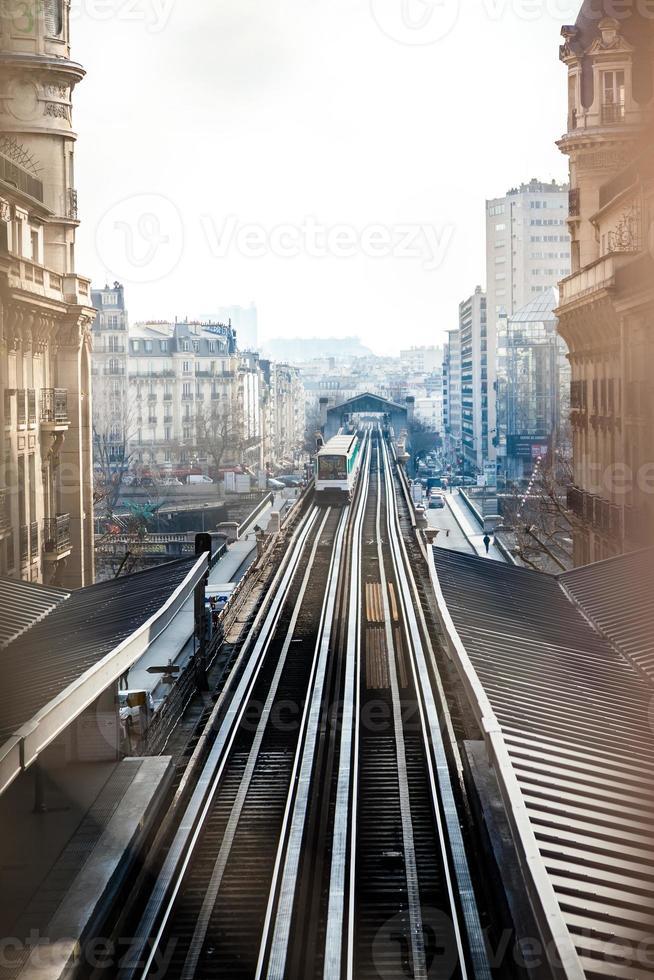 luchtfoto metro in Parijs foto