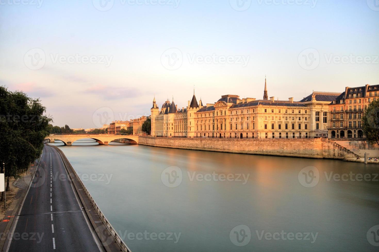 Parijs seine stadsgezicht foto