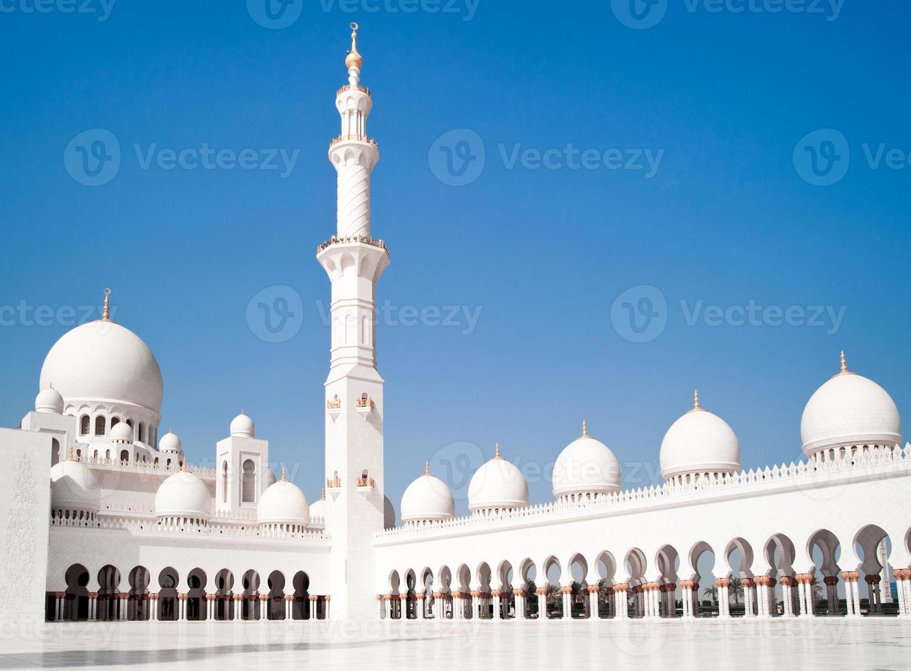 moskee in Abu Dhabi foto