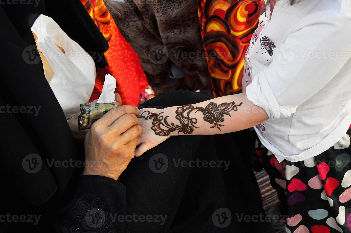Arabische henna schilderij foto