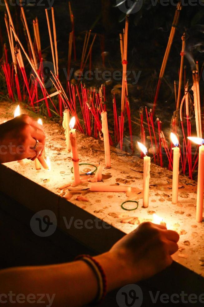 kaars bidden foto