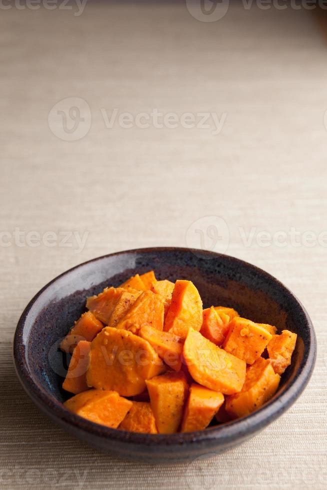 gekookte zoete aardappelen foto