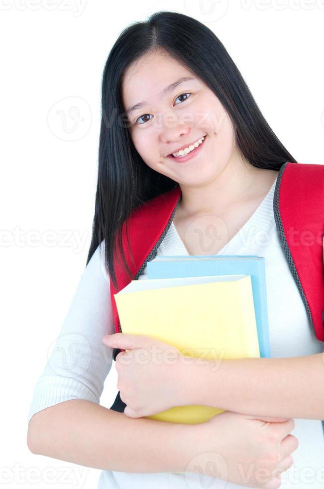 Aziatisch studentenmeisje foto