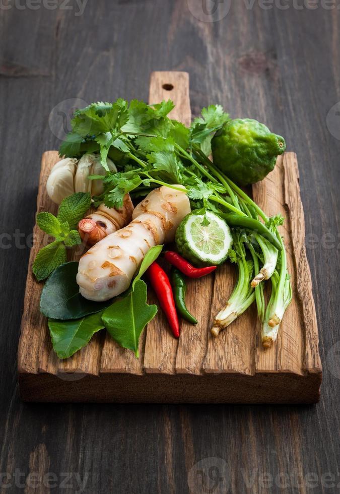 Aziatische kruiden en specerijen foto