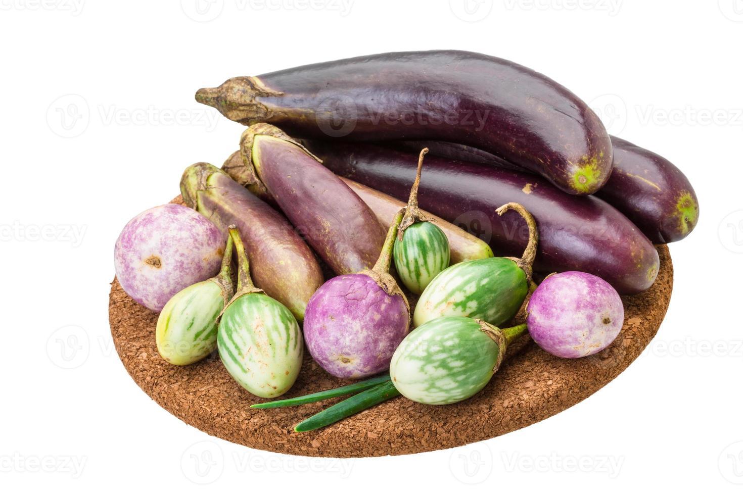 Aziatische aubergine assortie foto