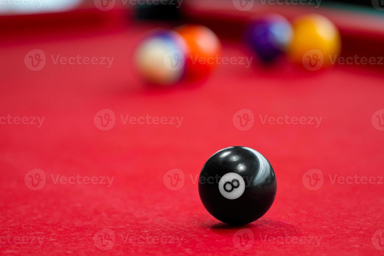acht ballen biljart foto